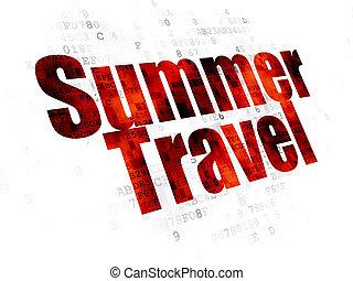 tourismus, concept:, sommer, reise, auf, digitaler hintergrund