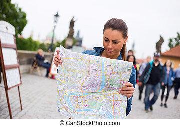 tourisst in Prague