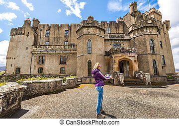 Tourist at Dunvegan Castle