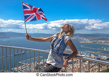 Tourist at Gibraltar Rock