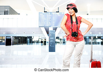 Tourist at the airport