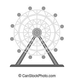 ferris wheel  Tourist attraction Travel, journey concept.