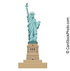 New York Statue of Liberty. Tourist attraction Travel, journey concept.