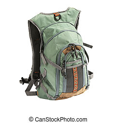 Tourist backpack isolated - Large tourist or fisherman...