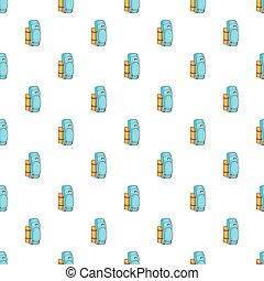 Tourist backpack with mat pattern, cartoon style