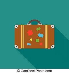 Tourist bag icon