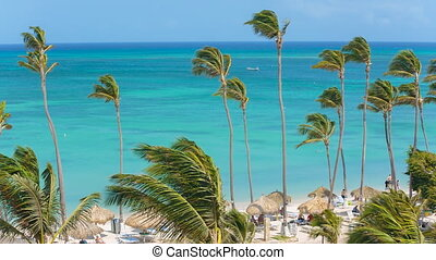 Tourist beach attraction, Aruba - Tourist attraction on the...