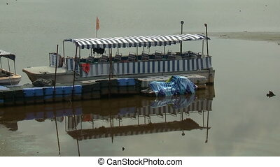 Tourist Boat |Bukit Merah Lake town, Malaysia - Close-up...