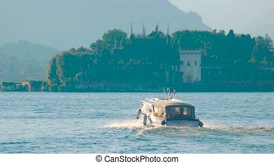 Tourist boat, Italy. - Tourist boat Italy. Isola Bella and...