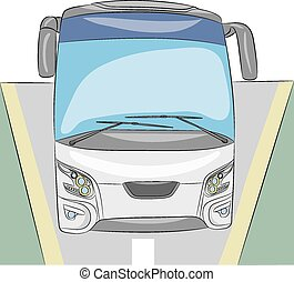 Tourist bus.