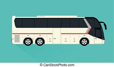 Tourist bus ,passenger transport design flat style