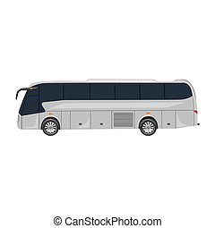 tourist bus, vector illustration