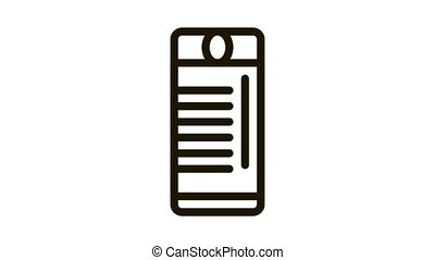 Tourist Campfire Lighter Icon Animation. black Tourist Campfire Lighter animated icon on white background