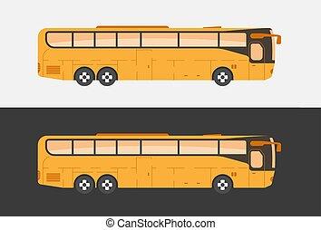 Tourist coach bus illustration.
