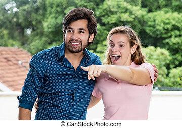 Tourist couple on sightseeing