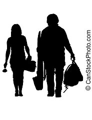 Tourist couples