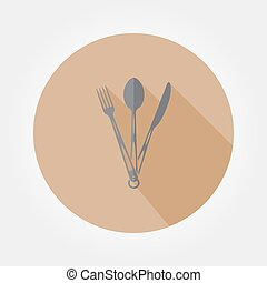 Tourist fork, spoon and knife.