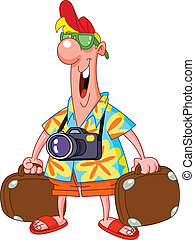 Tourist - Happy tourist