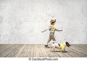tourist, hund