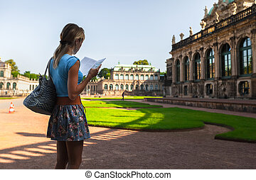 Tourist in Dresden