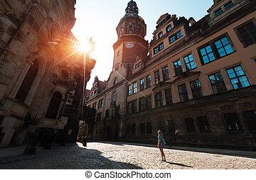 Tourist in Dresden