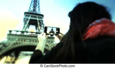 Tourist in Paris - Shot of Tourist in Paris