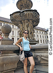 Tourist in Prague City