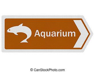 Tourist Information Series: Aquarium, isolated