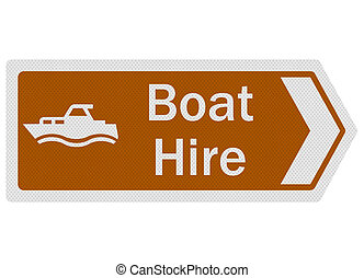 Tourist Information Series: Boat Hire, isolated