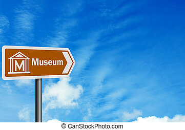 Tourist Information series: 'Museum' - with space for text...