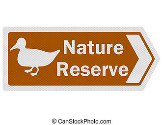 Tourist information series: photo-realistic 'nature reserve...
