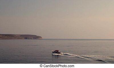Tourist motor boat