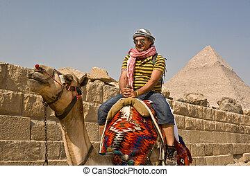 Tourist on Camel