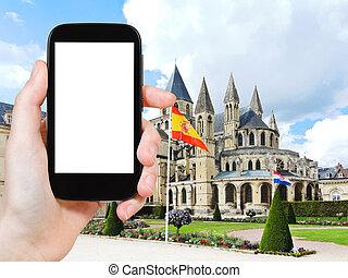 tourist photographs Abbey of Saint-Etienne, Caen - travel...