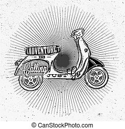 Tourist poster moped