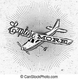 Tourist poster plane