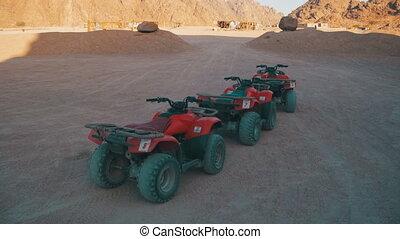 Tourist Quads Bike for a Safari Excursion in the Desert of Egypt