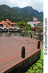 Tourist resort - A jetty in a resort in Langkawi, Malaysia