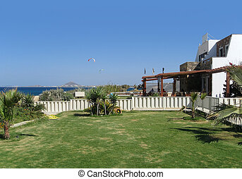 tourist resort in Greece - tourist resort at Naxos, a city ...