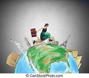 Tourist runs in the world