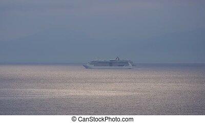 Tourist ship in the mediteranian sea. - Touristic ship in ...