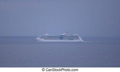 Tourist ship in the mediterranean sea. - Touristic ship in ...
