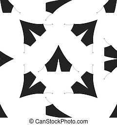 Tourist tent icon seamless pattern on white background. Vector Illustration