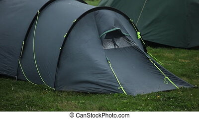 Tourist tent. - Travel tent - protection from wind and rain.