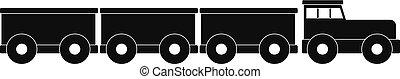 Tourist train icon, simple style.