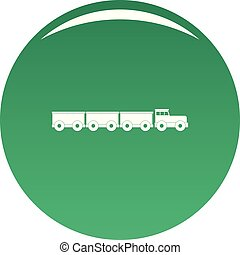 Tourist train icon vector green