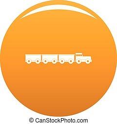 Tourist train icon vector orange
