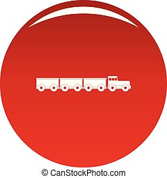 Tourist train icon vector red