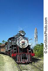 tourist train Valle de Los Ingenios, Manaca Iznaga, Sancti Sp�ritus Province, Cuba