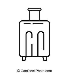 tourist travel bag illustration design